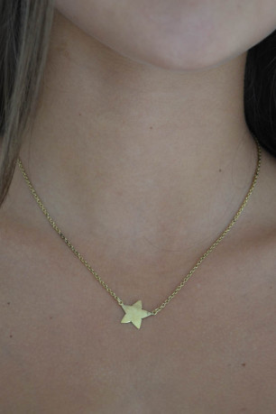 *Star in Chain gold 45 cm 2jpg